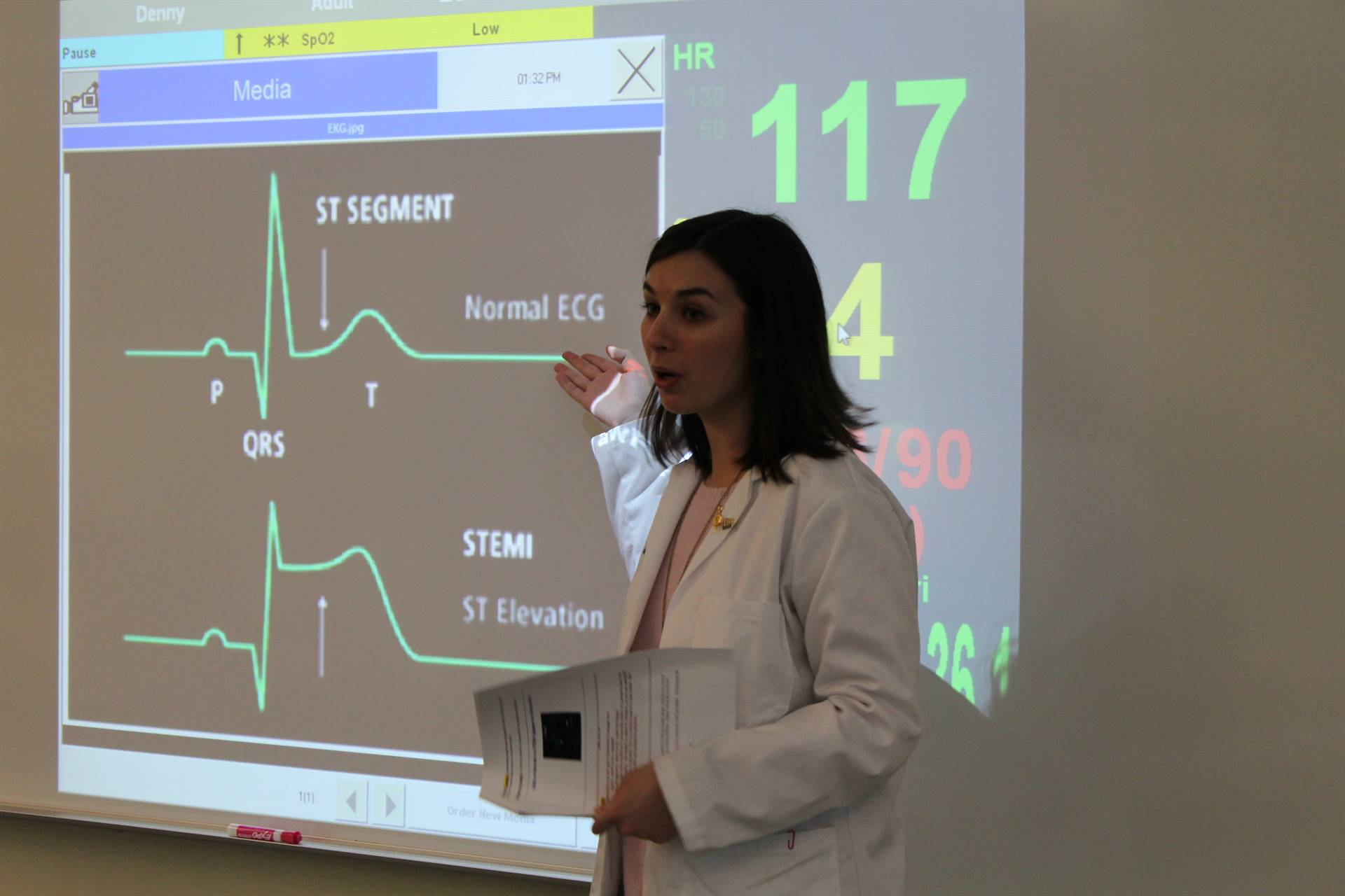 Learning how to read an EKG
