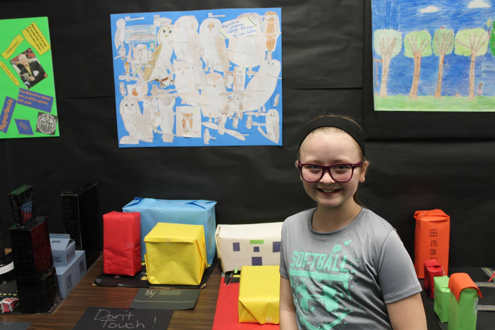 Student with architecture project