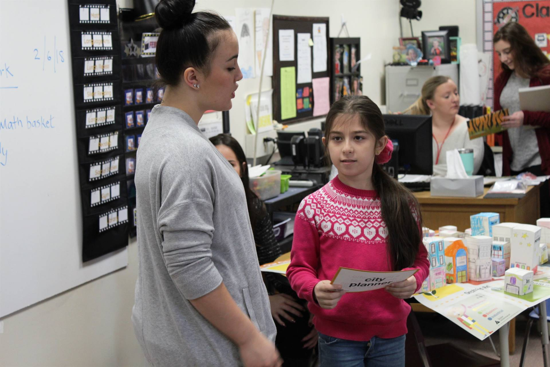 BPHS student working with a Franklin student
