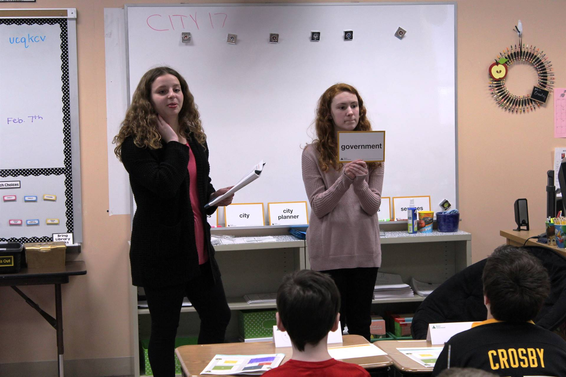 BPHS students teaching a lesson
