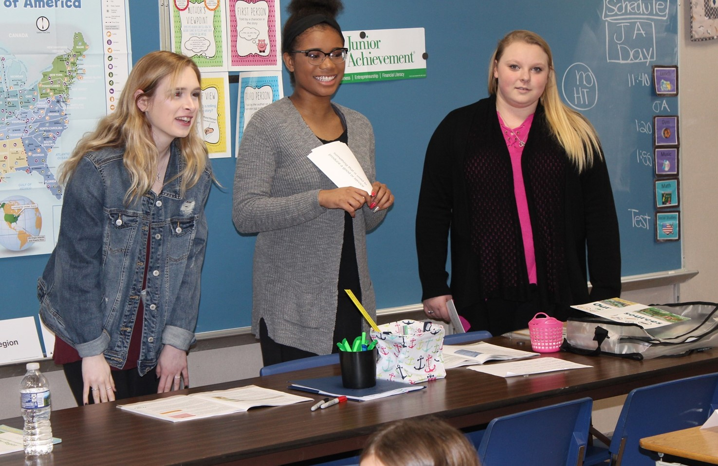 BPHS Child Development Students Teach Lessons At Franklin On JA Day