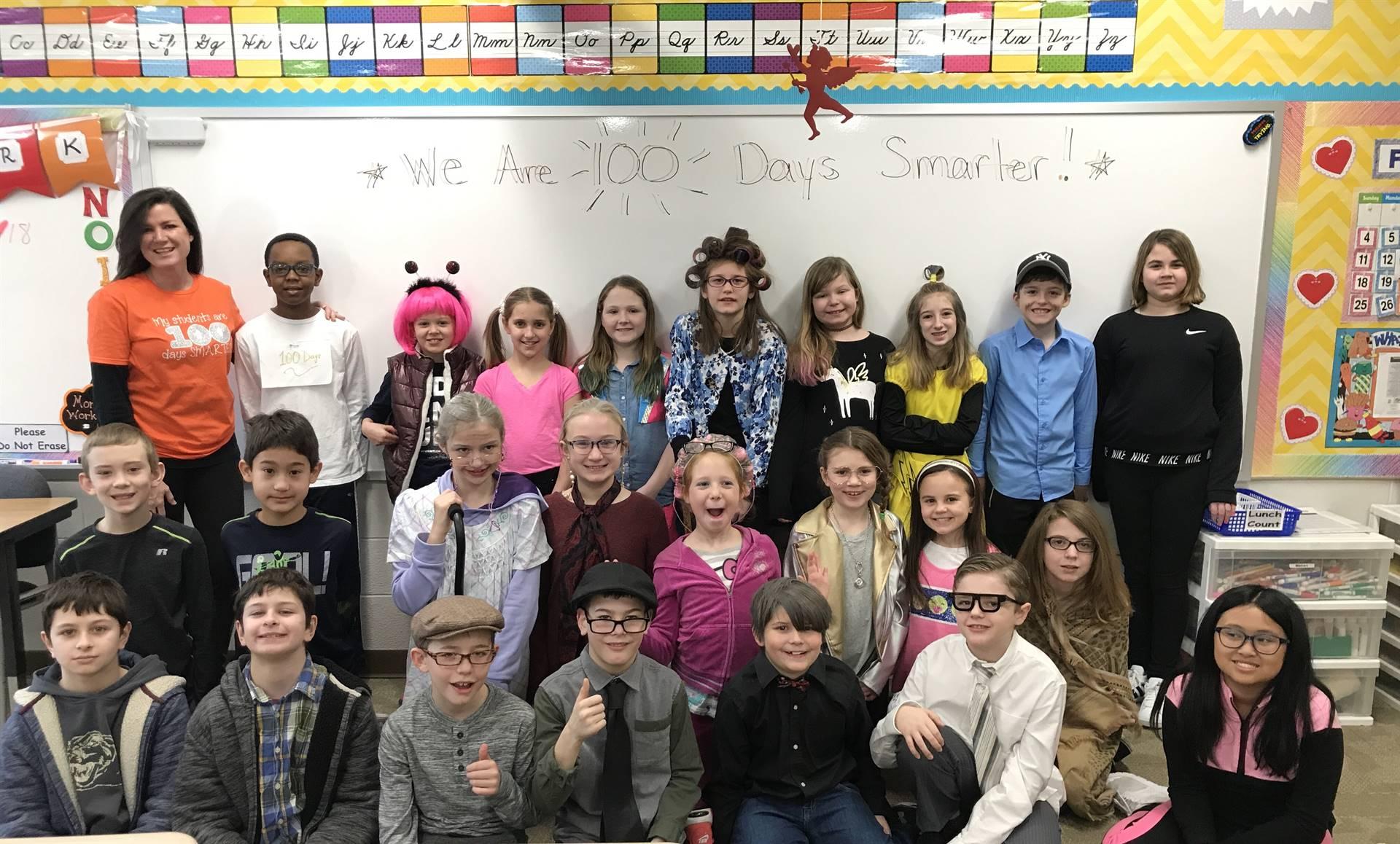 Mrs. Dressler and her students