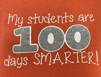 """A sign that says, """"My students are 100 days SMARTER!"""""""