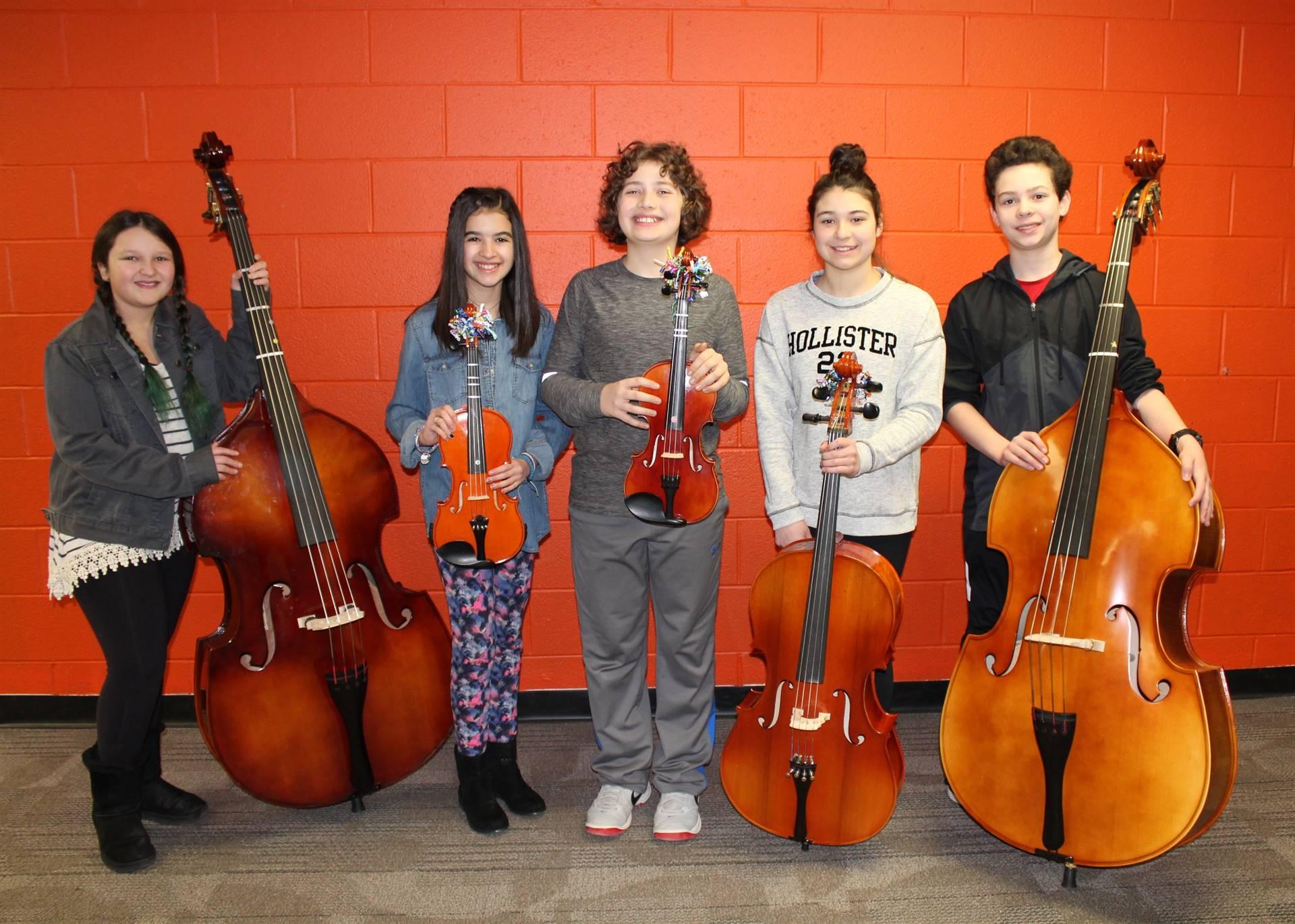 NAMS Elementary Strings Fest musicians