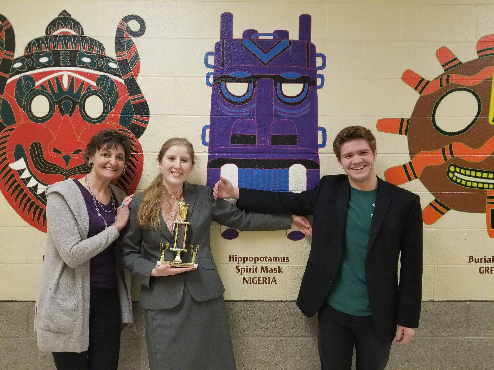 Students and sponsor at the NSDA qualifier