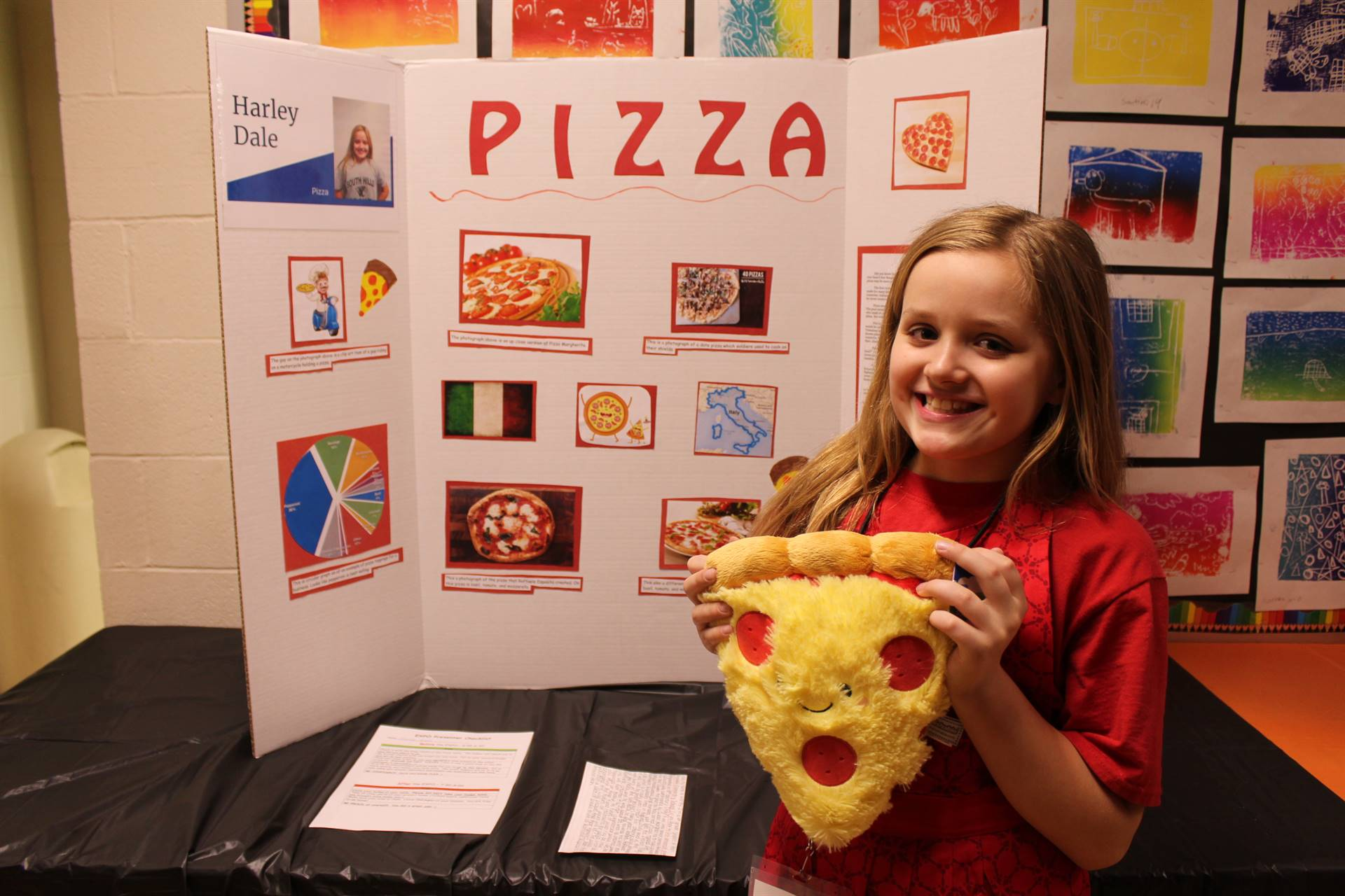 Student with her Gifted Expo project
