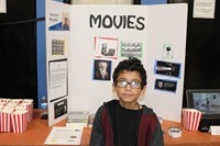 Student with his project