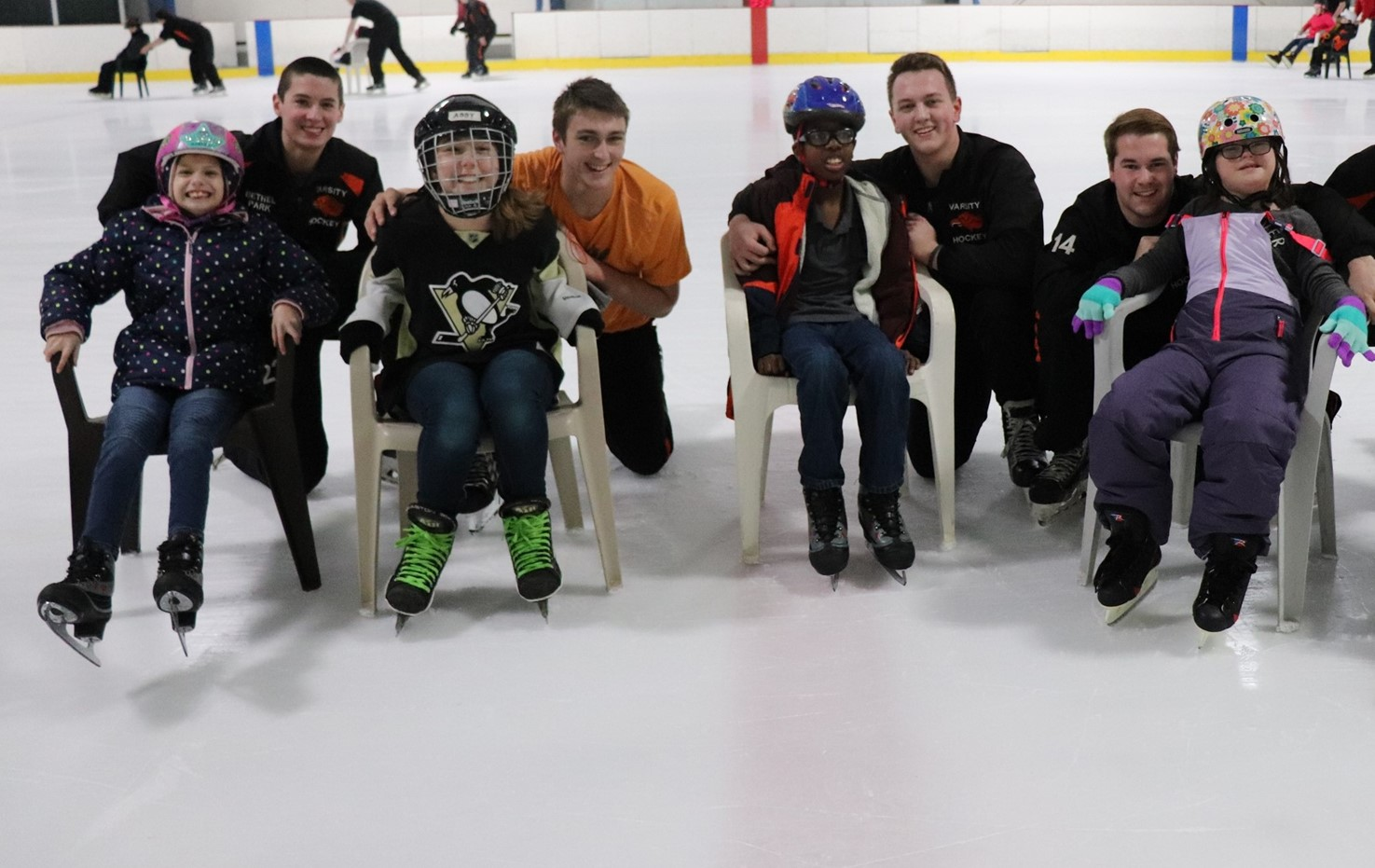 BPHS Hockey Team Skate With Special Friends