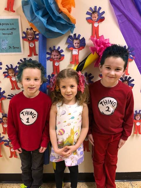 Students dressed as their favorite Dr. Seuss character
