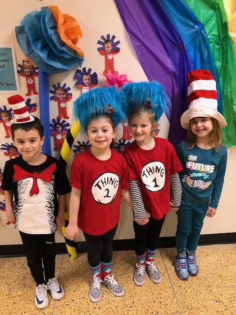Students dressed as their favorite Dr. Seuss characters