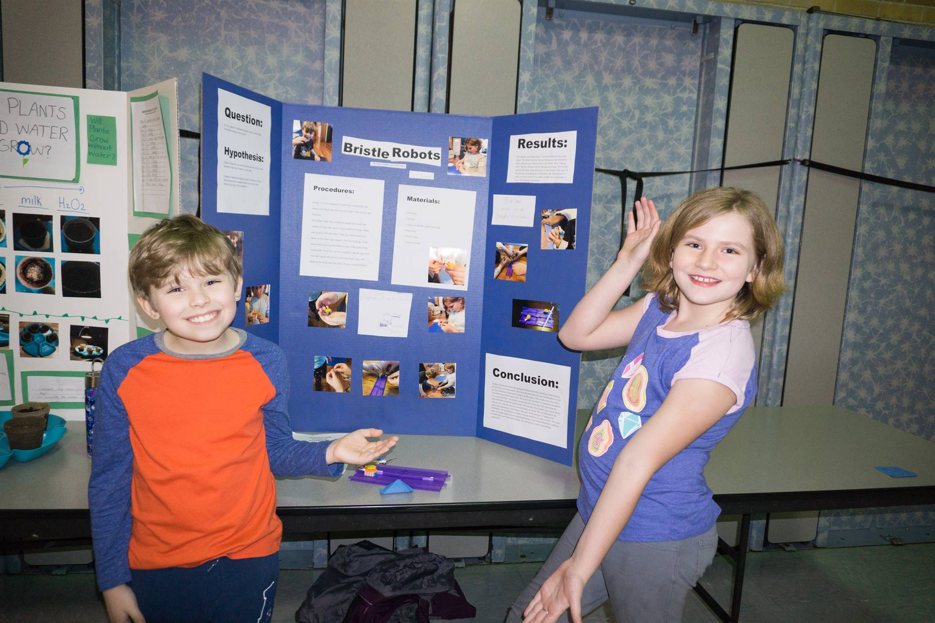 Students with their project
