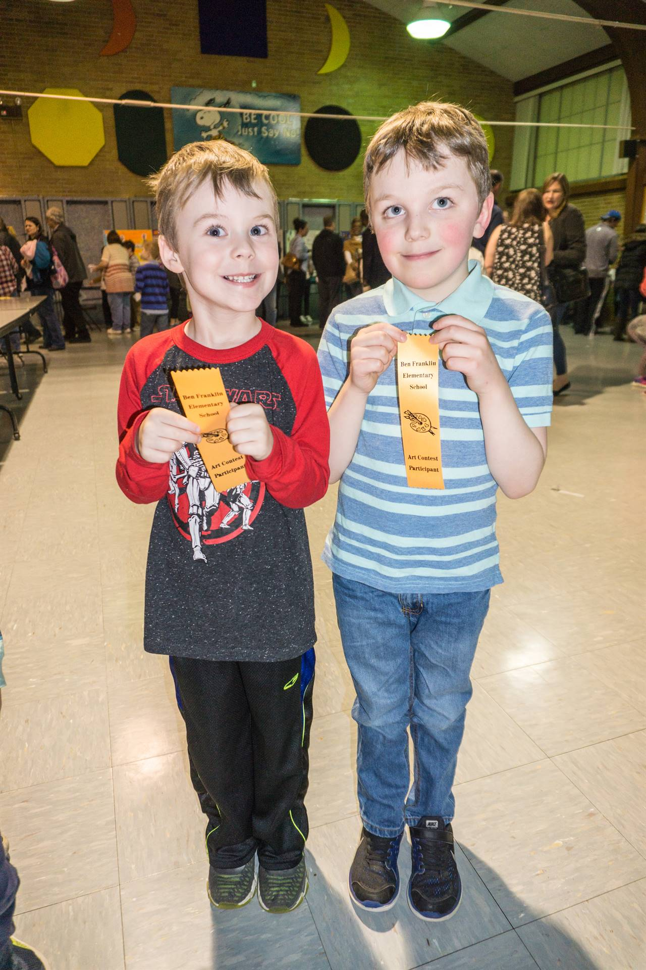 Students with their ribbons