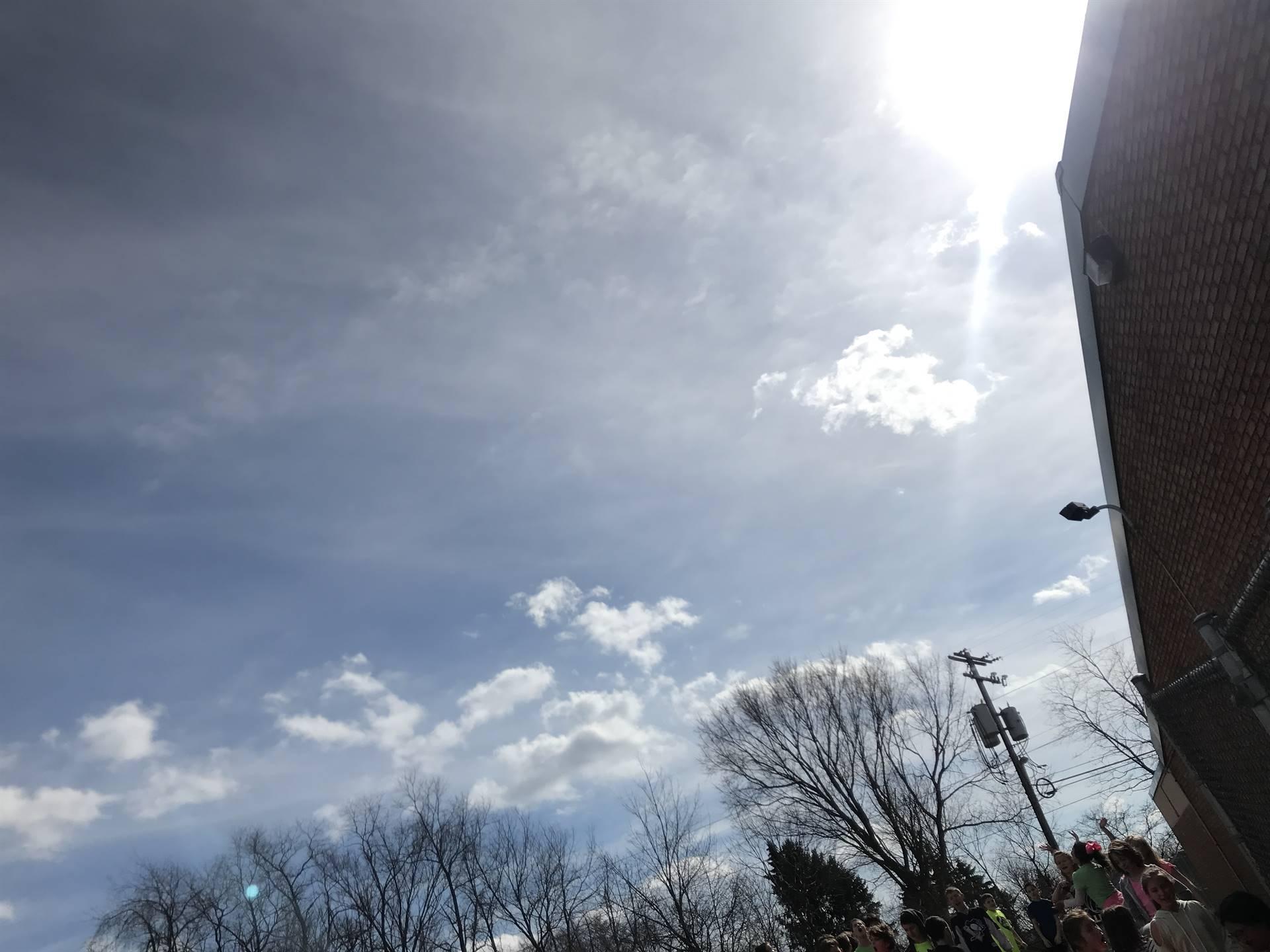 The sky on Hoodie Hoo Day