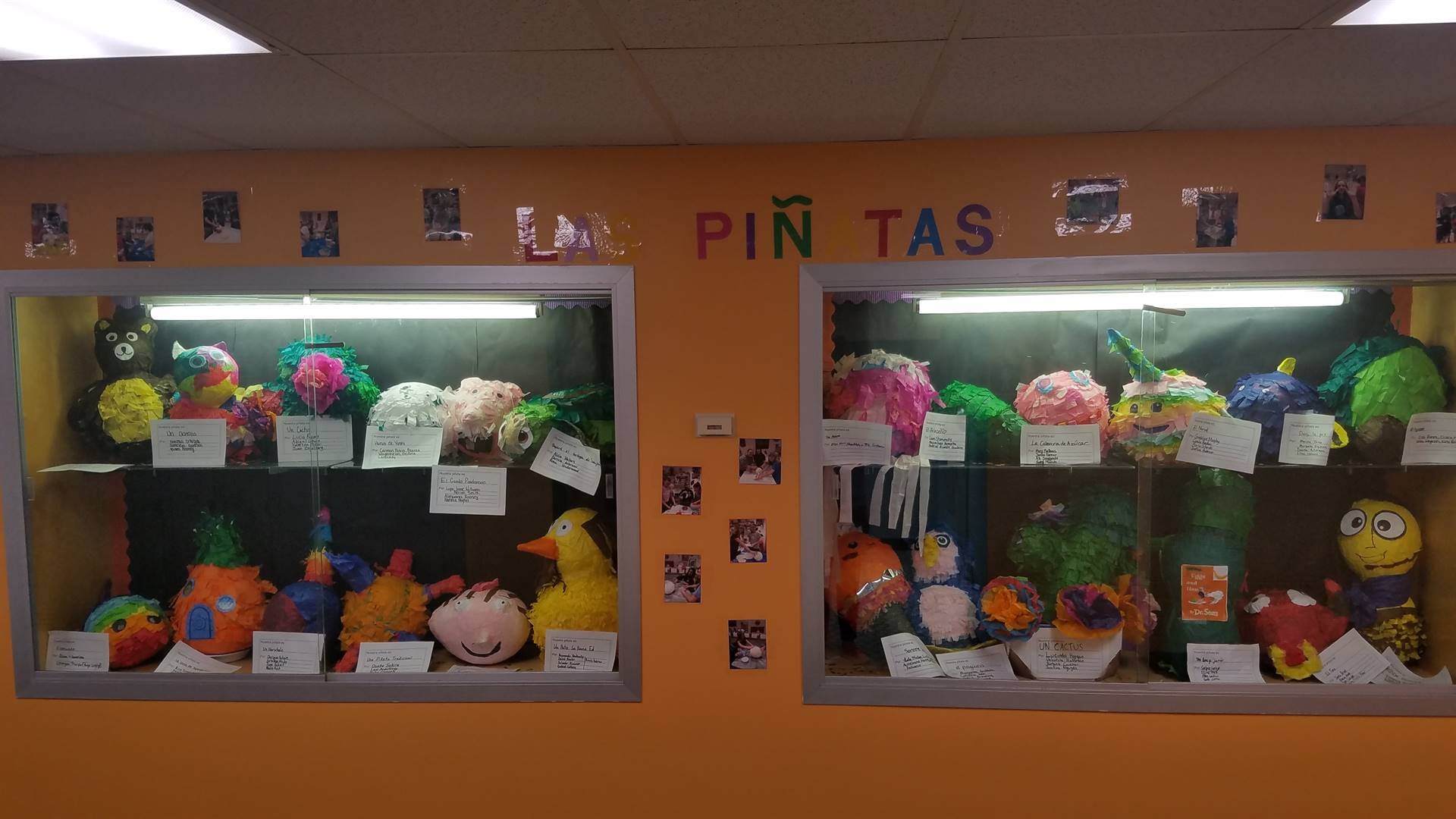 Mrs. Foster's Spanish students' pinatas project