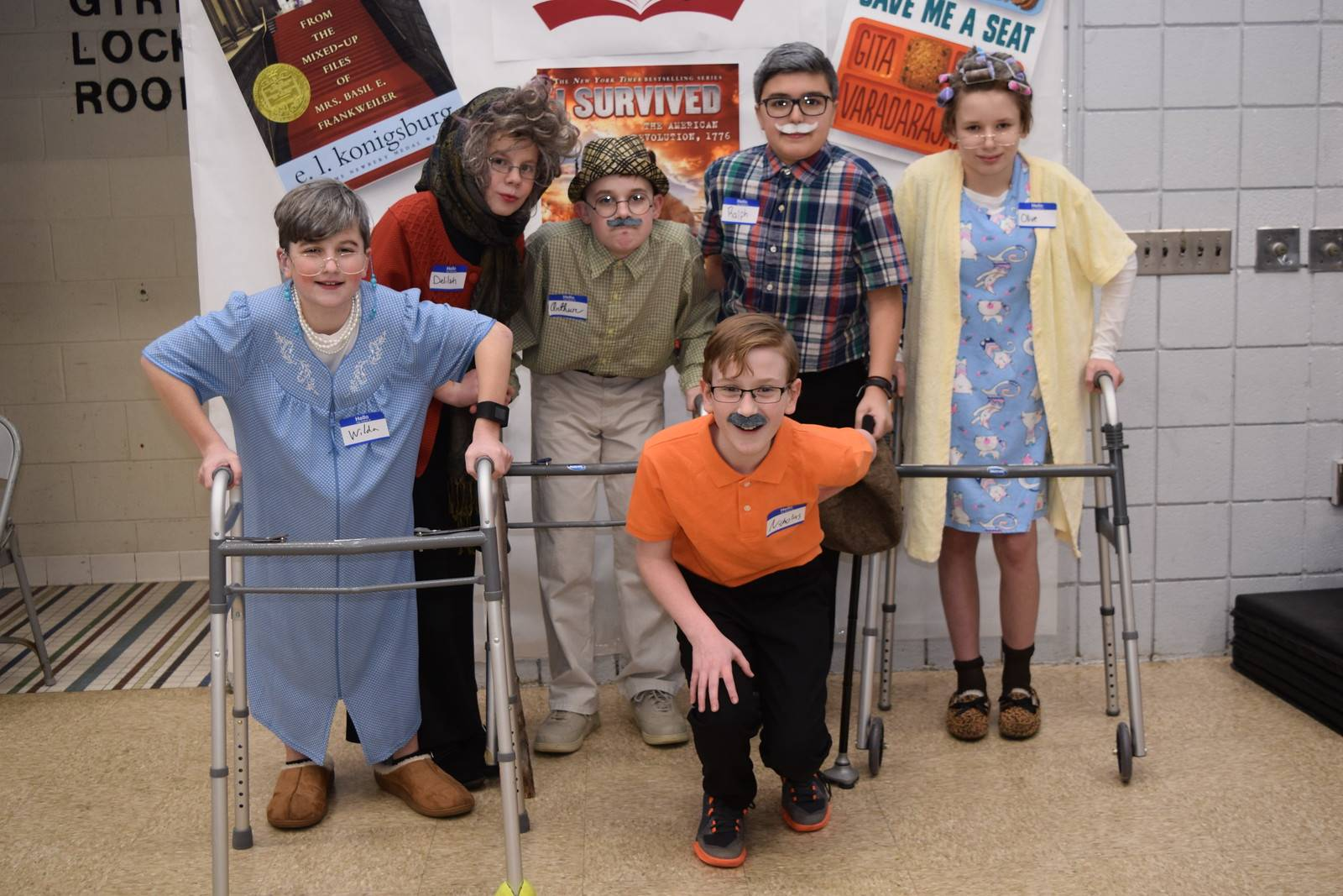The Senior Citizen Book Club Battle of the Books Costume Contest Winning Team