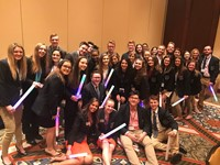 The BPHS DECA students at the International Competition