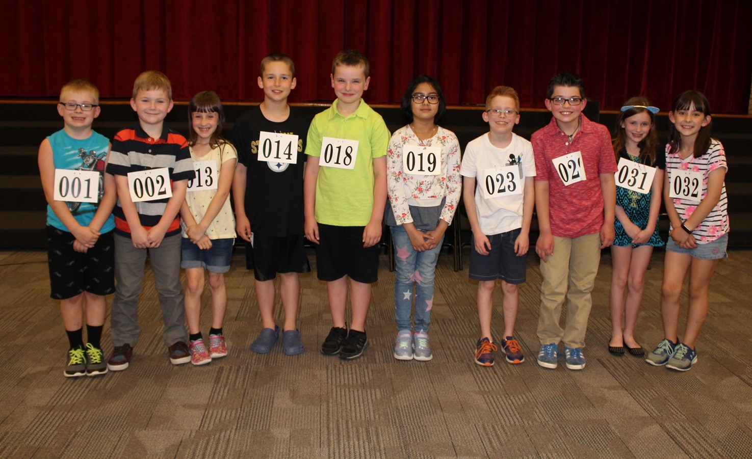 The Top 10 Spellers At The BPSD Third Grade Spelling Bee