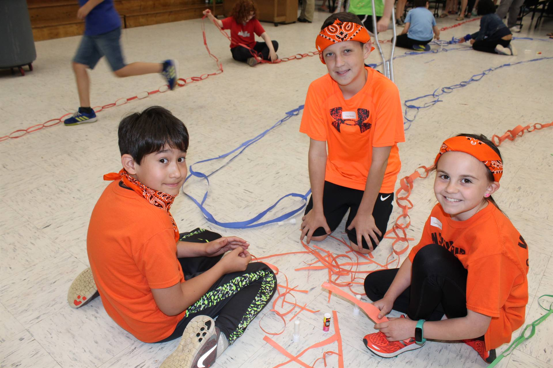 Students at the Elementary Gifted Challenge Cup competition
