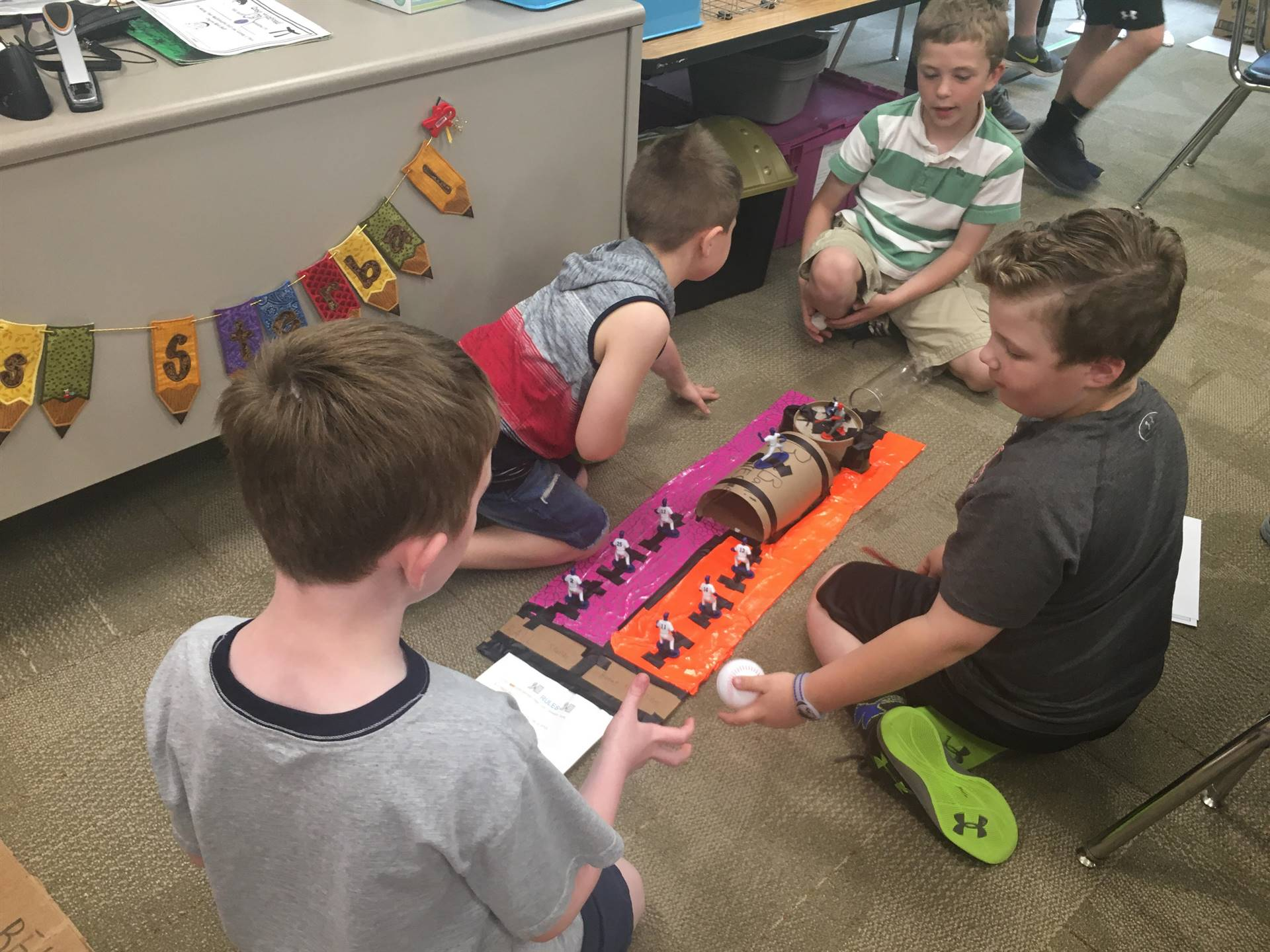 Third graders recycle cardboard to make arcade games