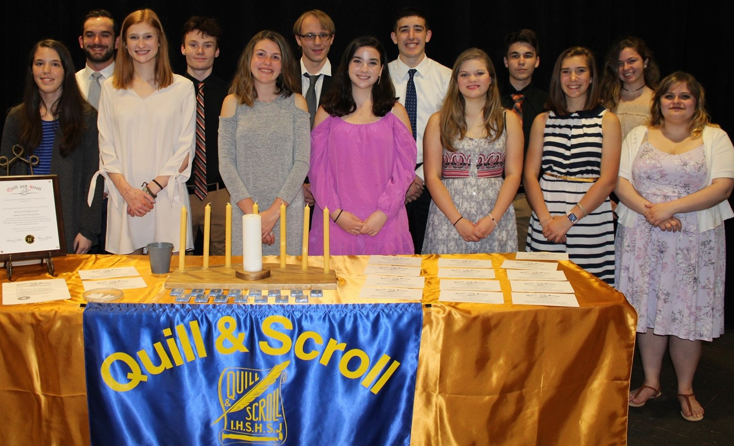 BPHS Quill and Scroll Inductees