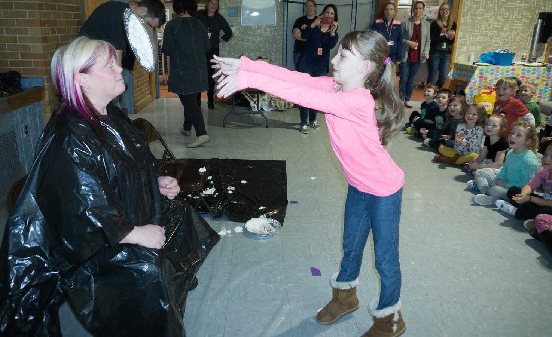 Franklin Students Throw Read-A-Thon Pies At Their Teachers