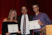 two students and Dr. Jansante