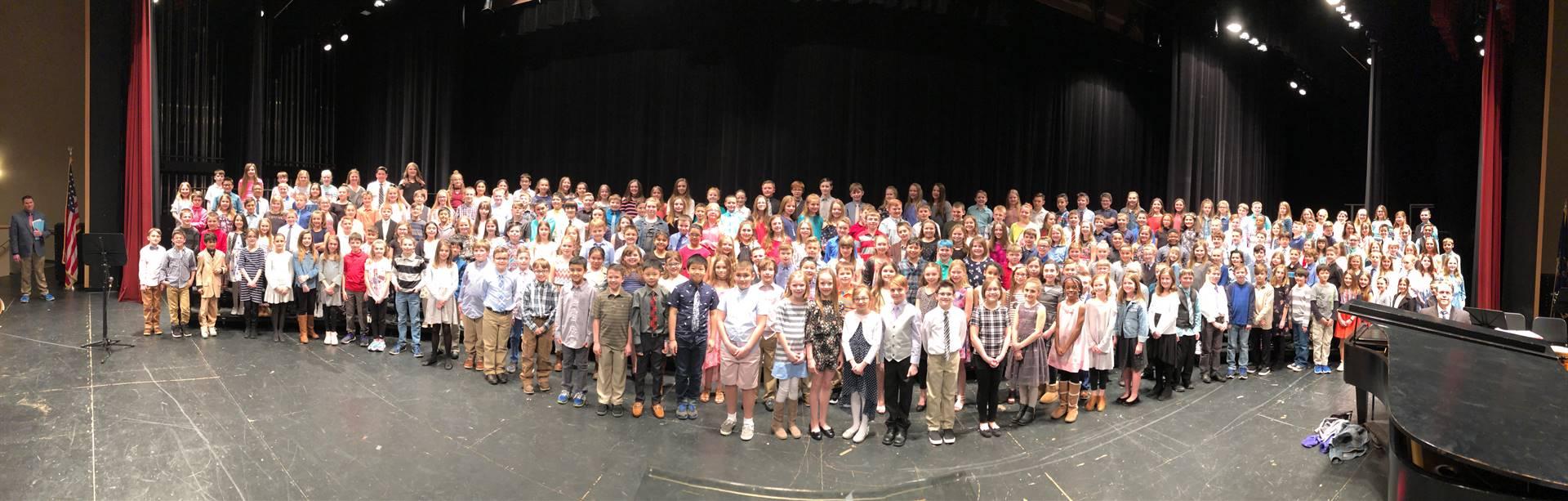 The BPSD Fourth Grade Chorus