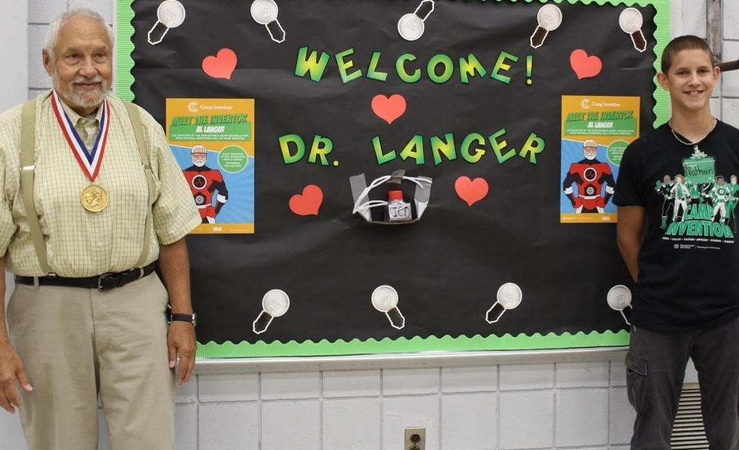 Dr. Langer and a Camp Invention Counselor