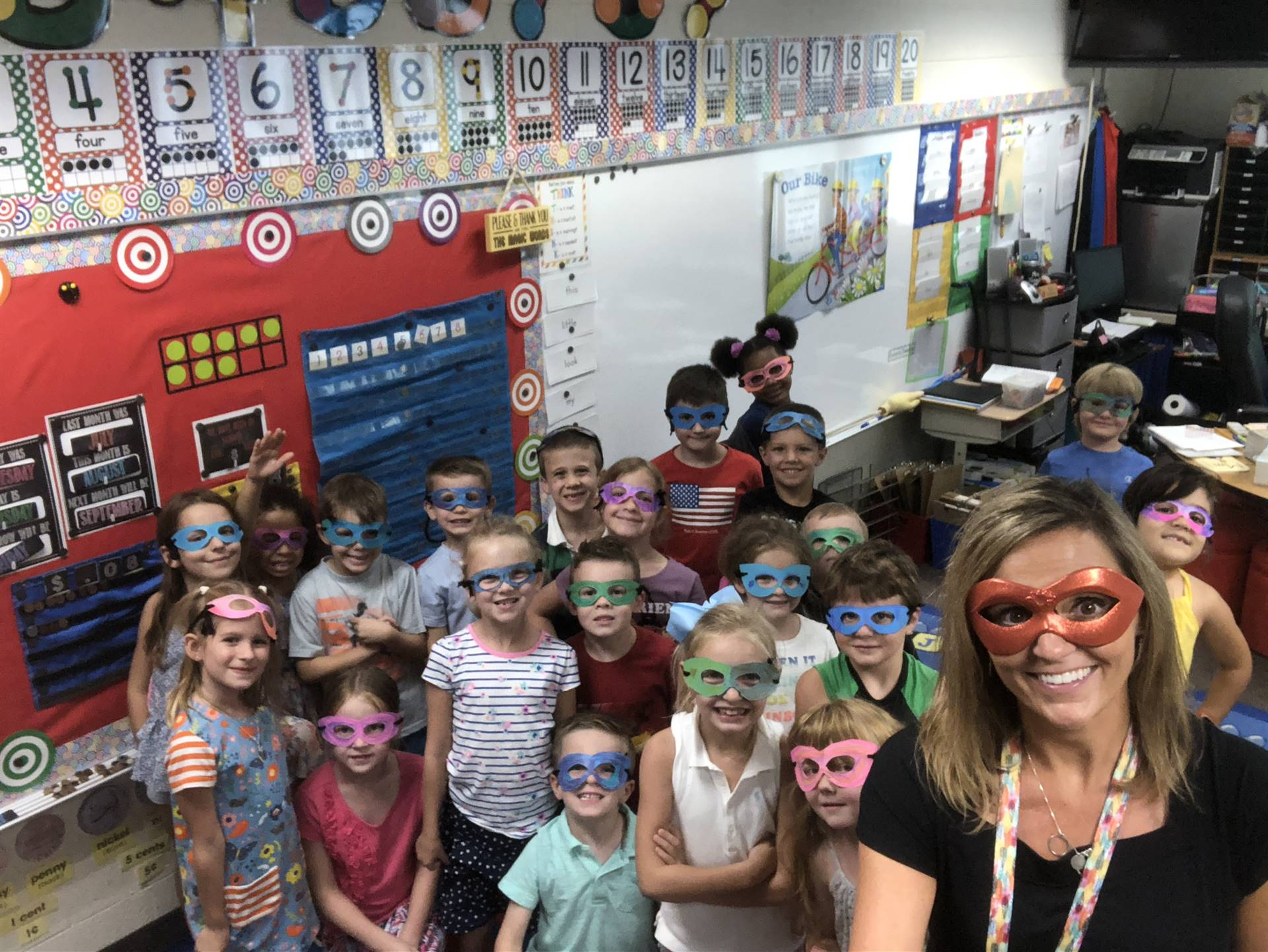 Mrs. Joseph and her first grade superheroes