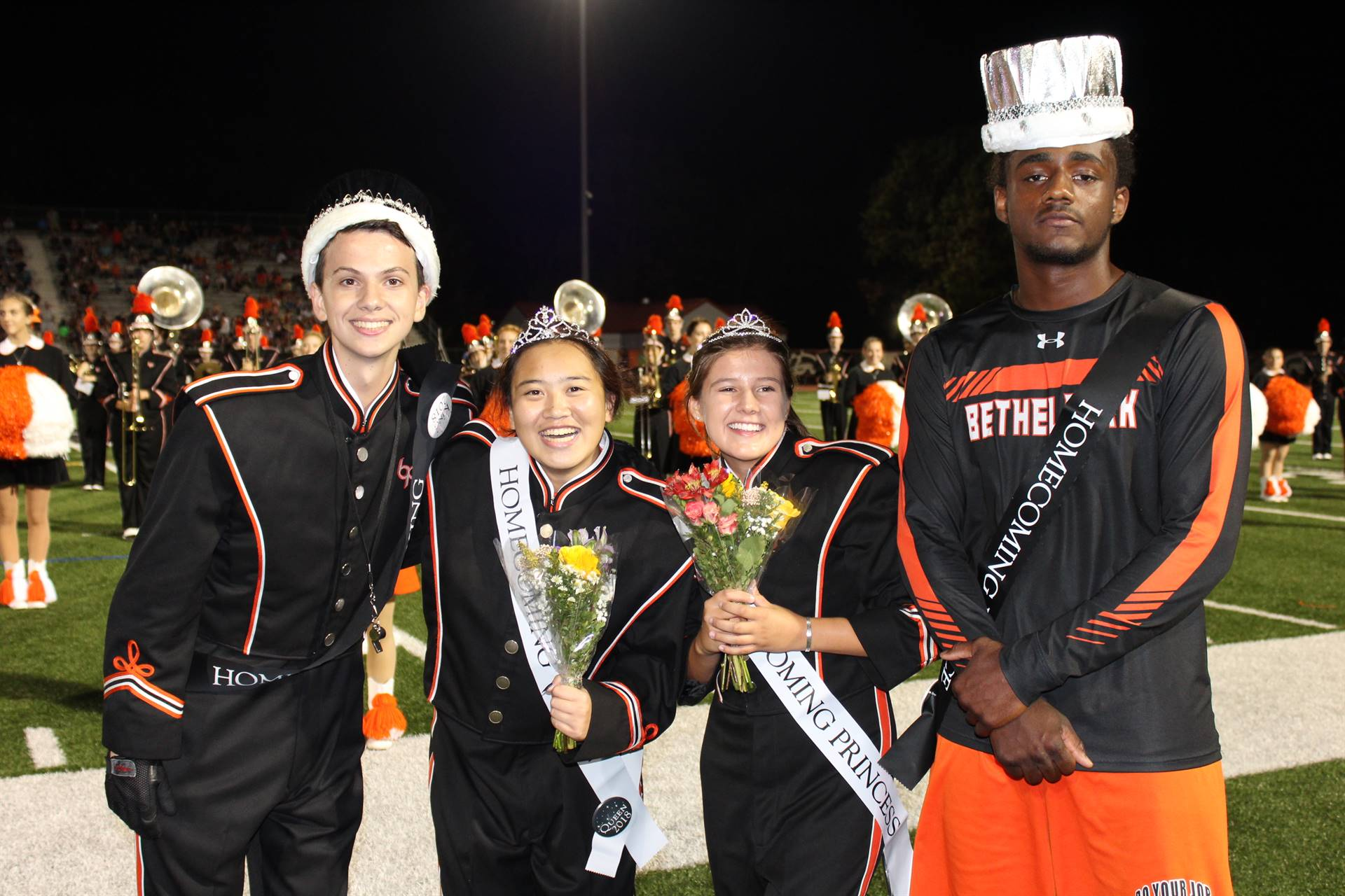The Homecoming King, Queen, Princess and Prince
