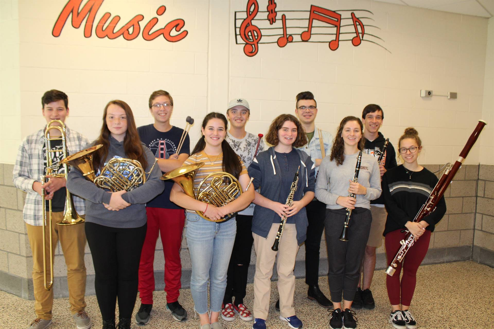The 10 Honors Band Musicians