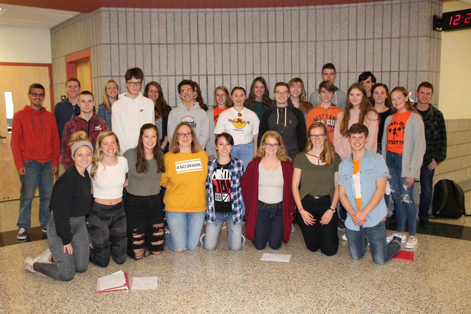 BPHS German IV and V students with visitors from Germany