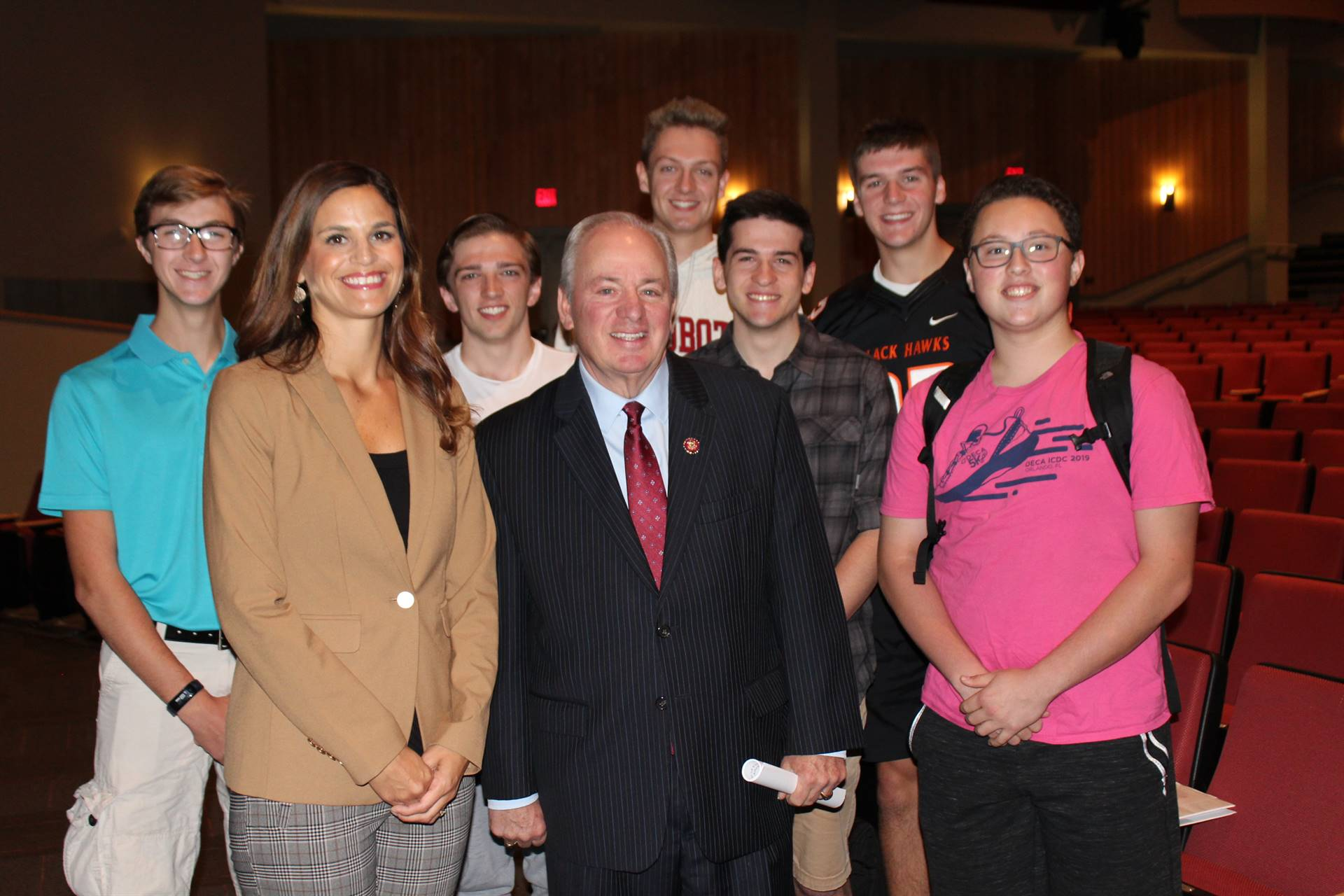 Seniors with Representative Mihalek and Congressman Doyle