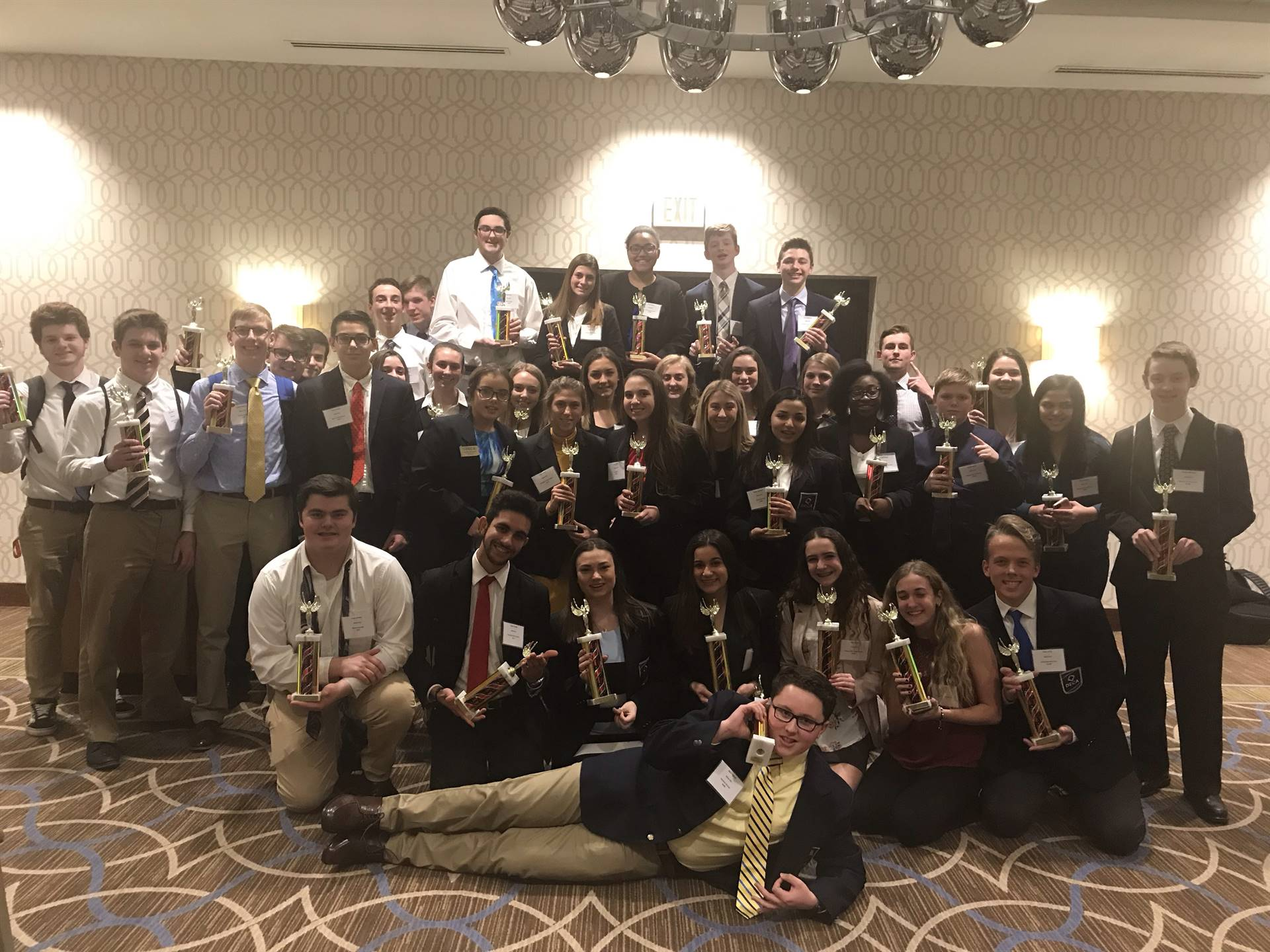 The BPHS competitors at the DECA District competition
