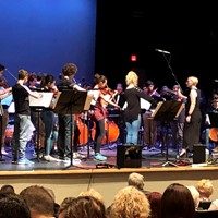 The IMS Orchestra performing at the concert