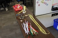 The materials used to make the dream catchers