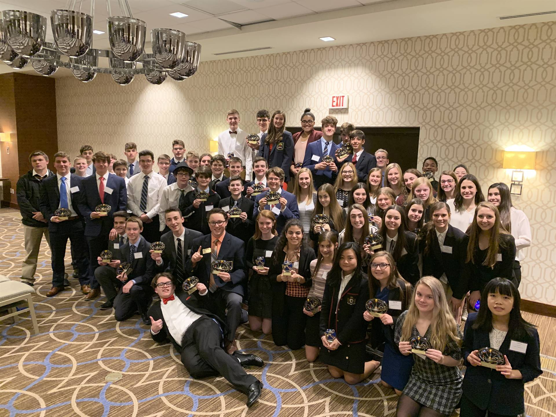 The competitors at DECA Districts