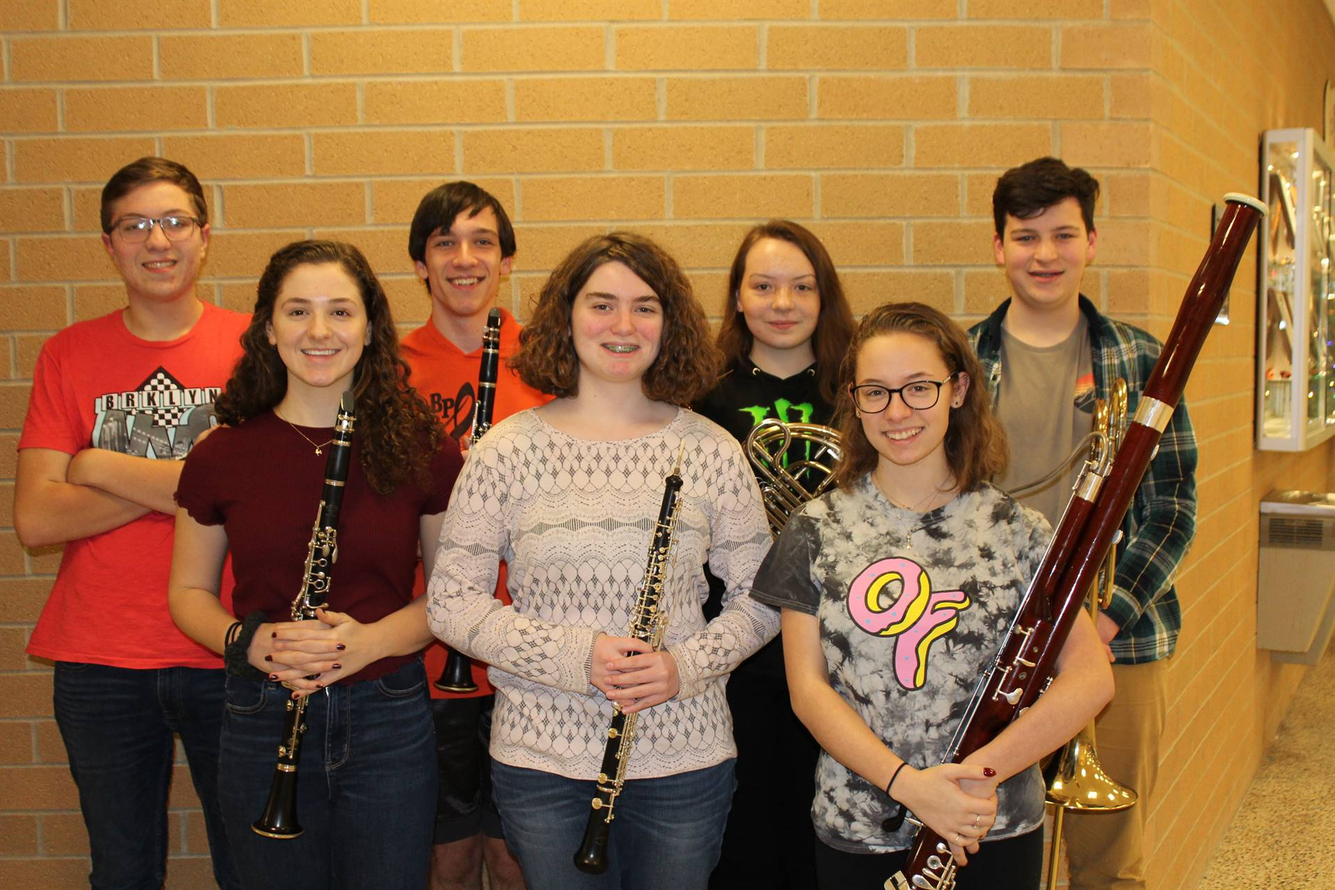 The 7 BPHS District Band Musicians
