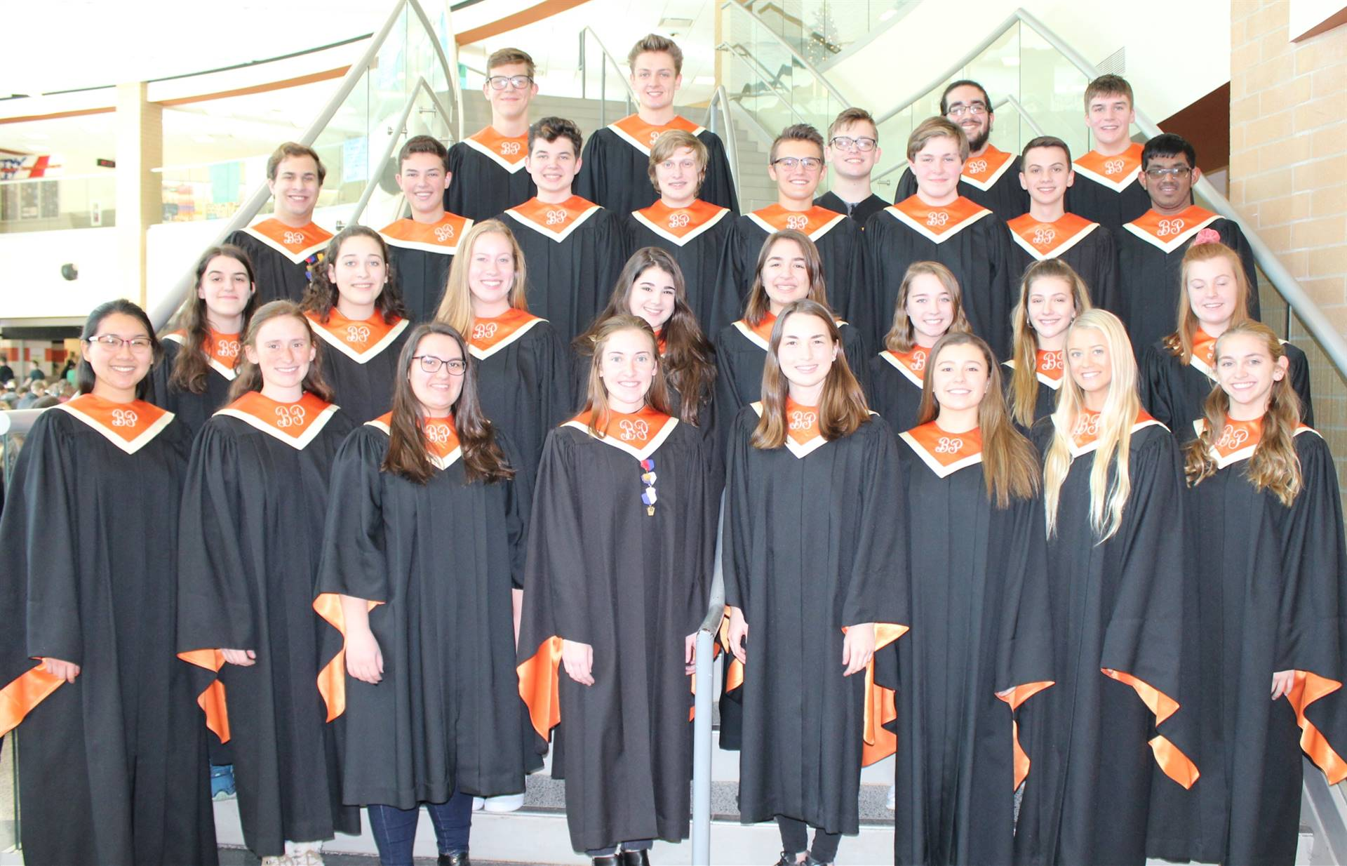 29 of the 30 District Chorus students