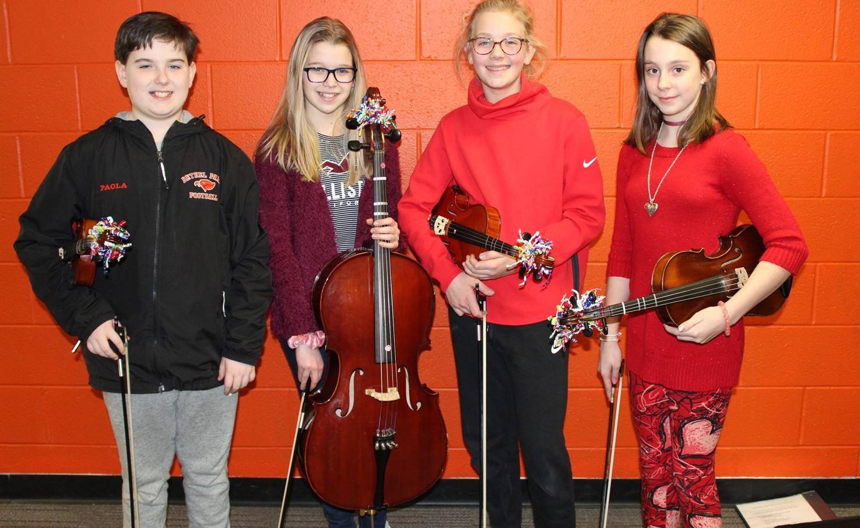 The 4 NAMS Elementary String Fest Musicians