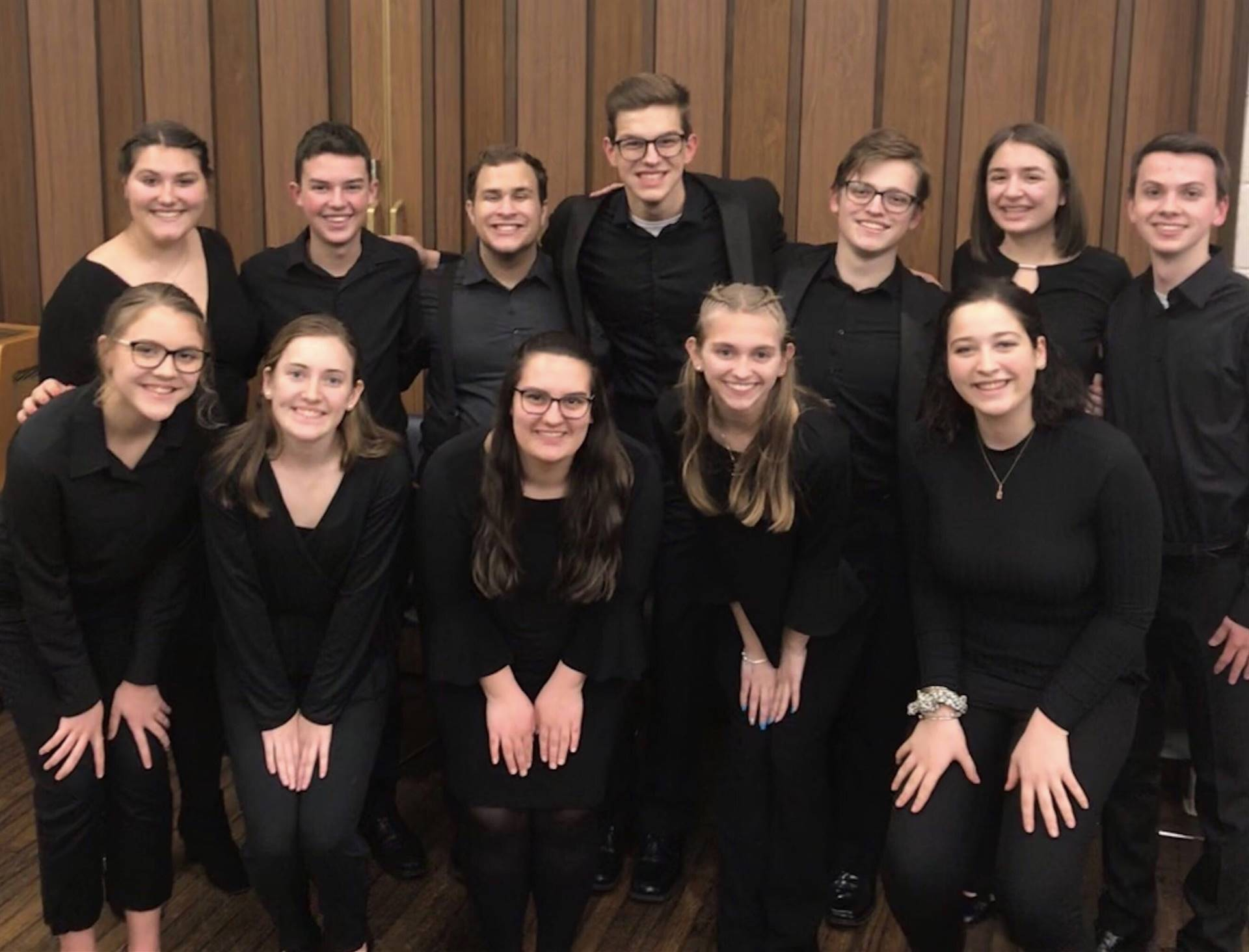 The 12 BPHS Vocalists who sang at Heinz Hall with the Pittsburgh Symphony