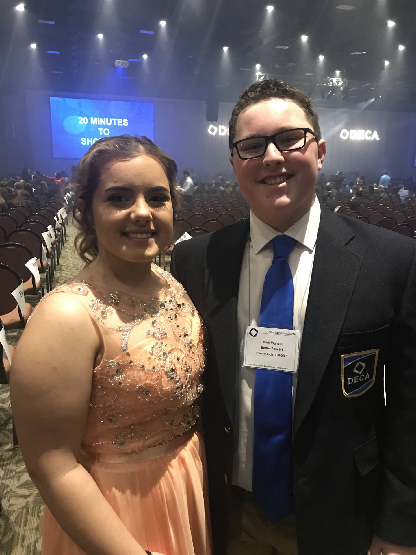 Two students at DECA States