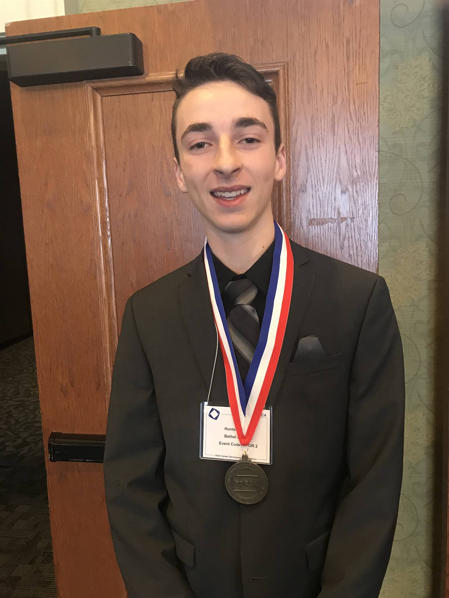 Student with a medal