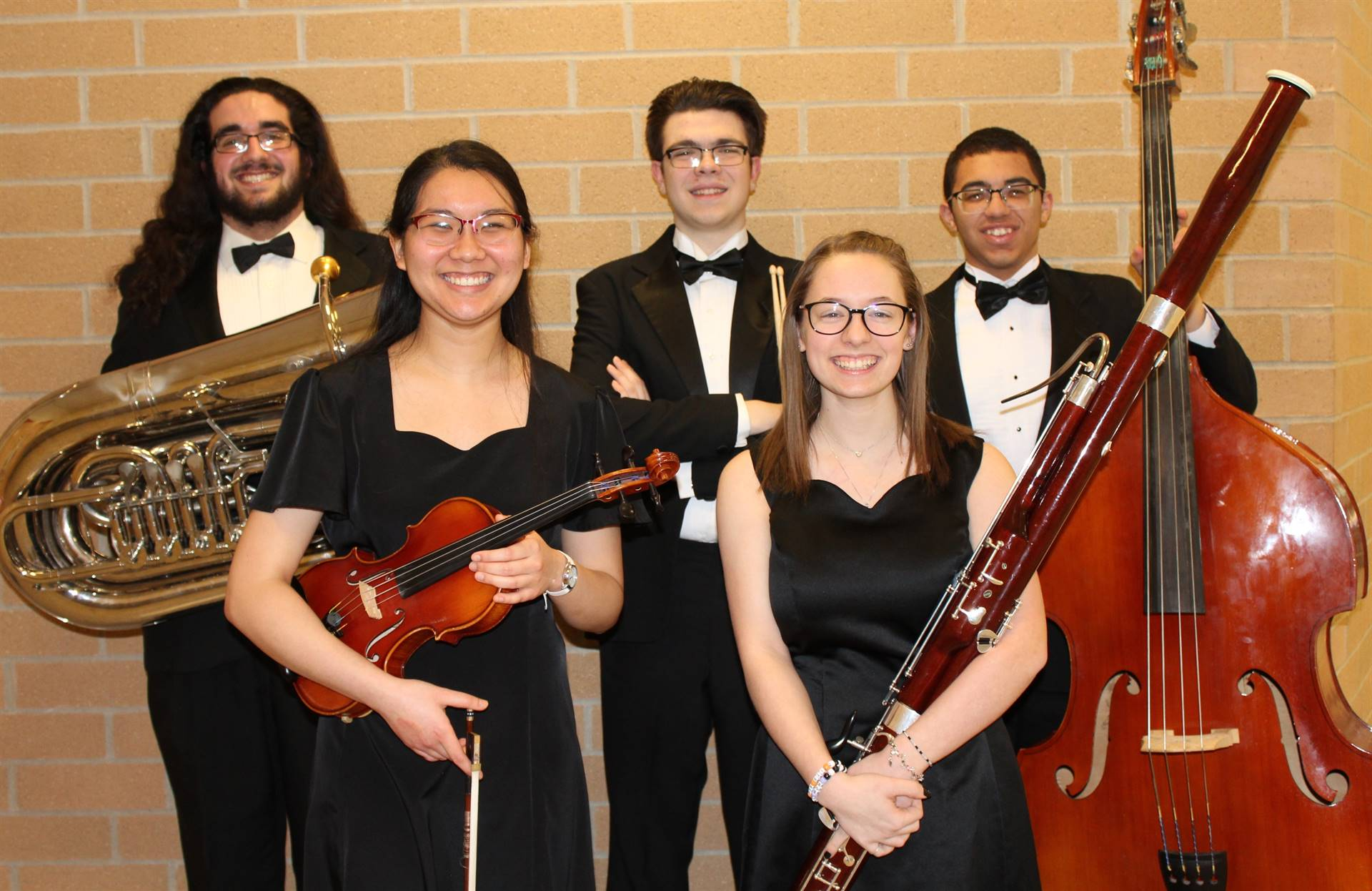 The five BPHS Region Orchestra Musicians