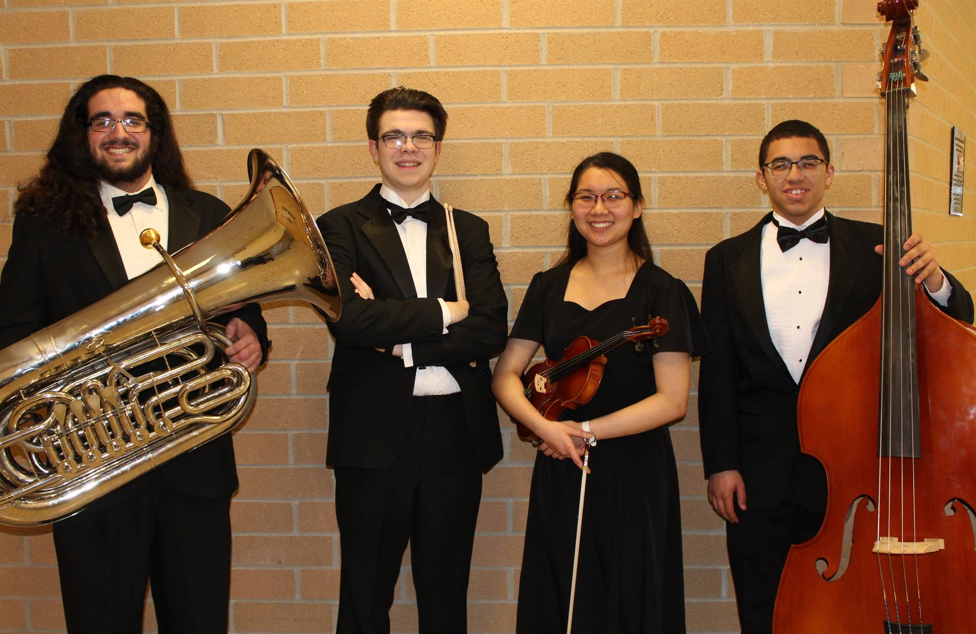 The four All-State Orchestra Musicians