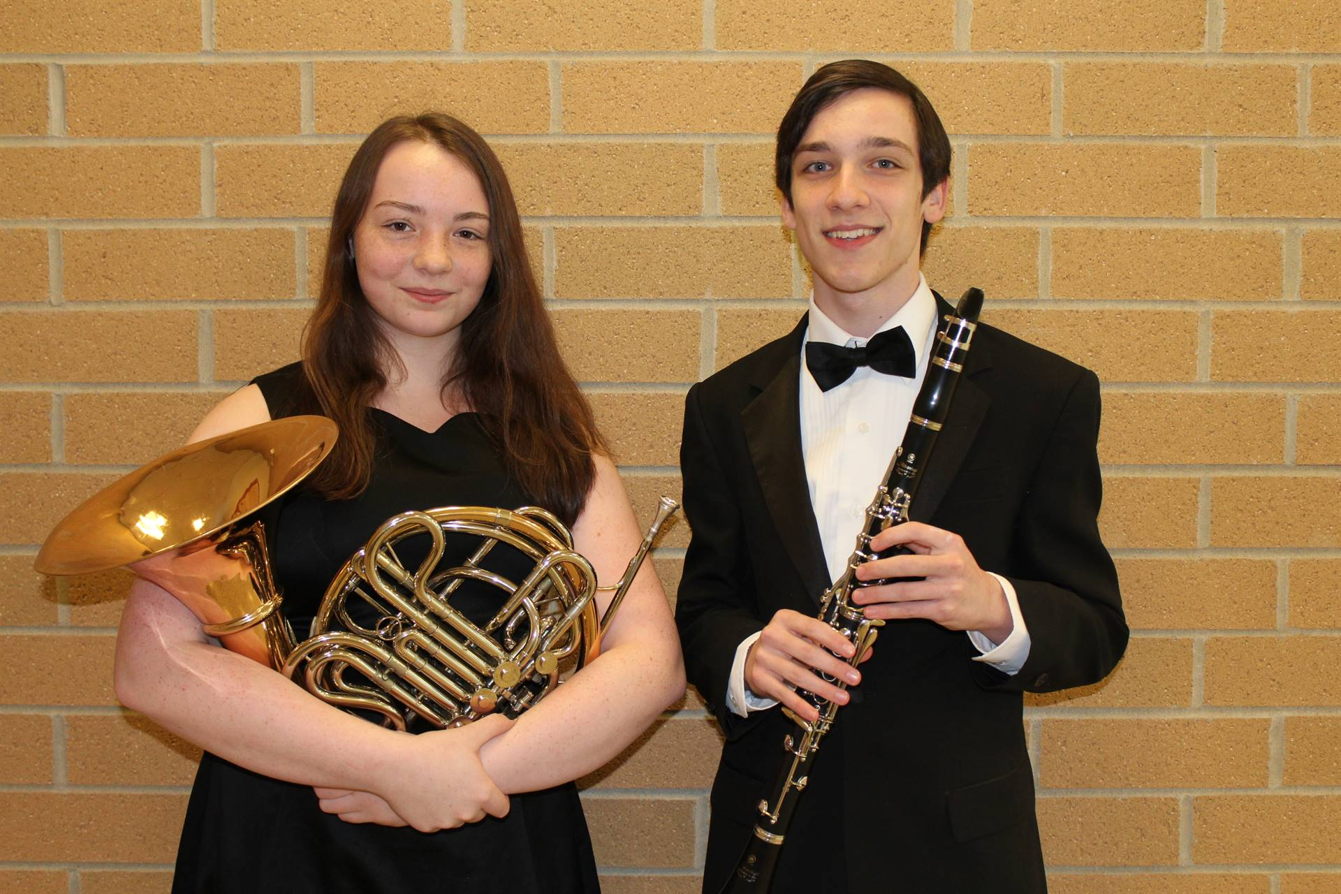 The two BPHS All-State Band Musicians