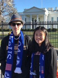 Willow and Michael in front of the White House