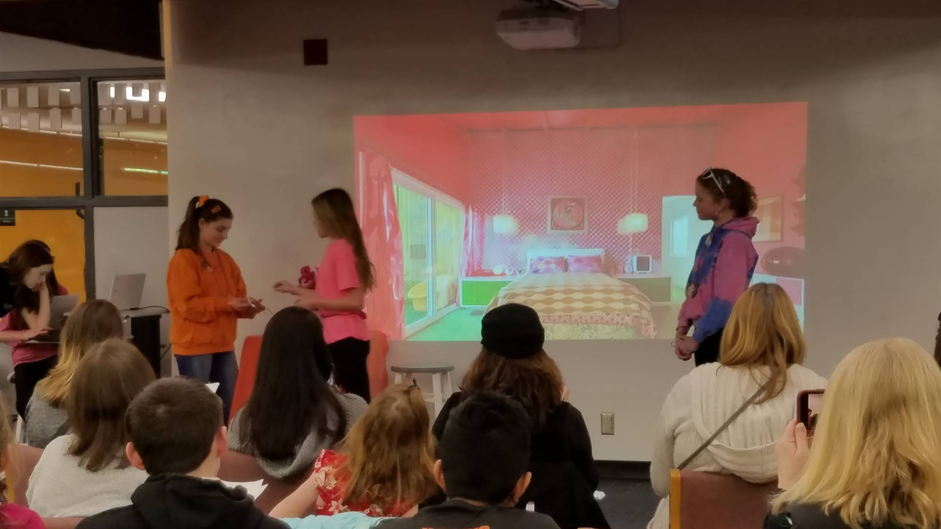 Ms. Aristequi's 7th grade Latin students present play to parents