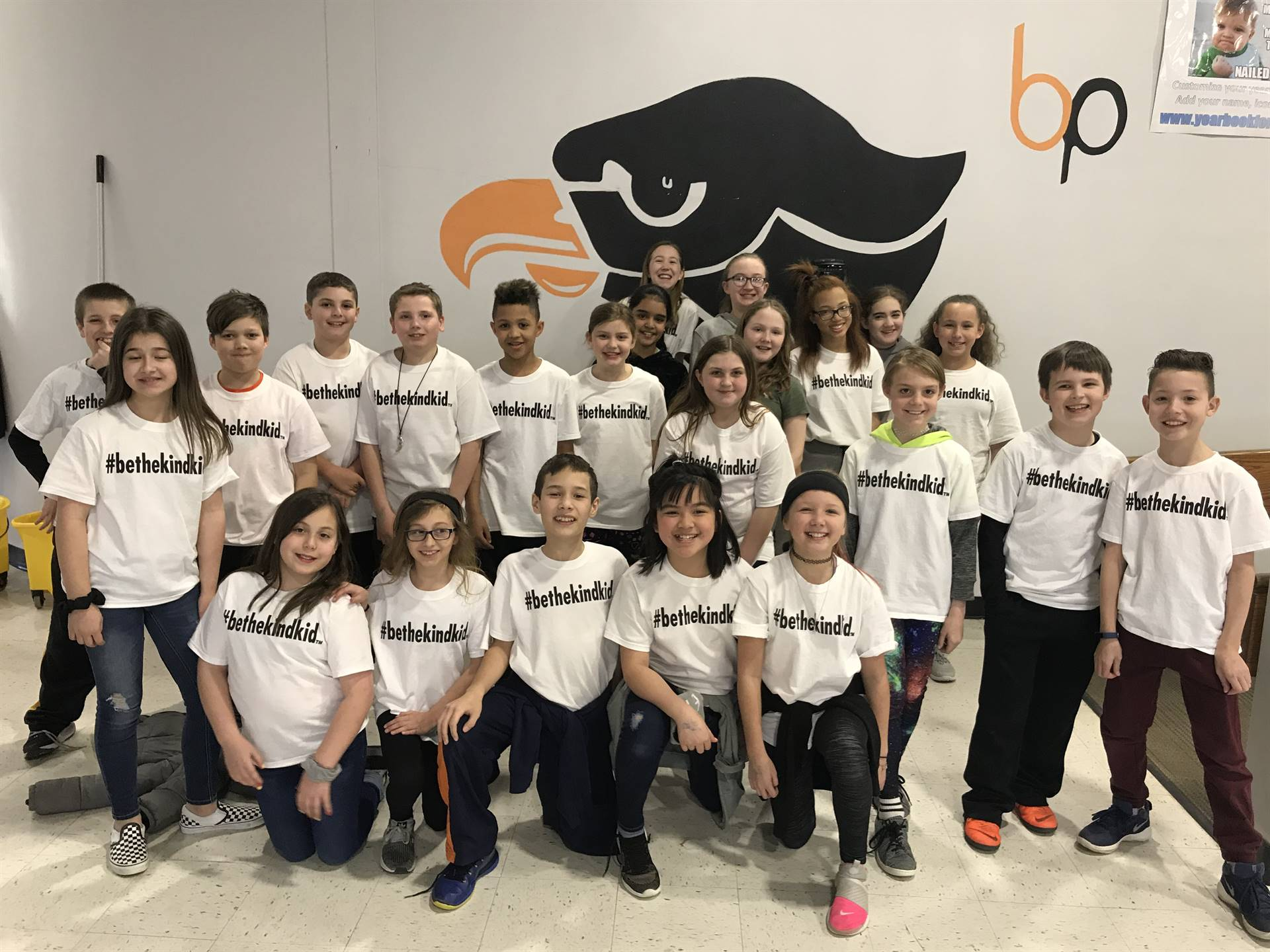 Team Apollo students wearing their #BeTheKindKid t-shirts