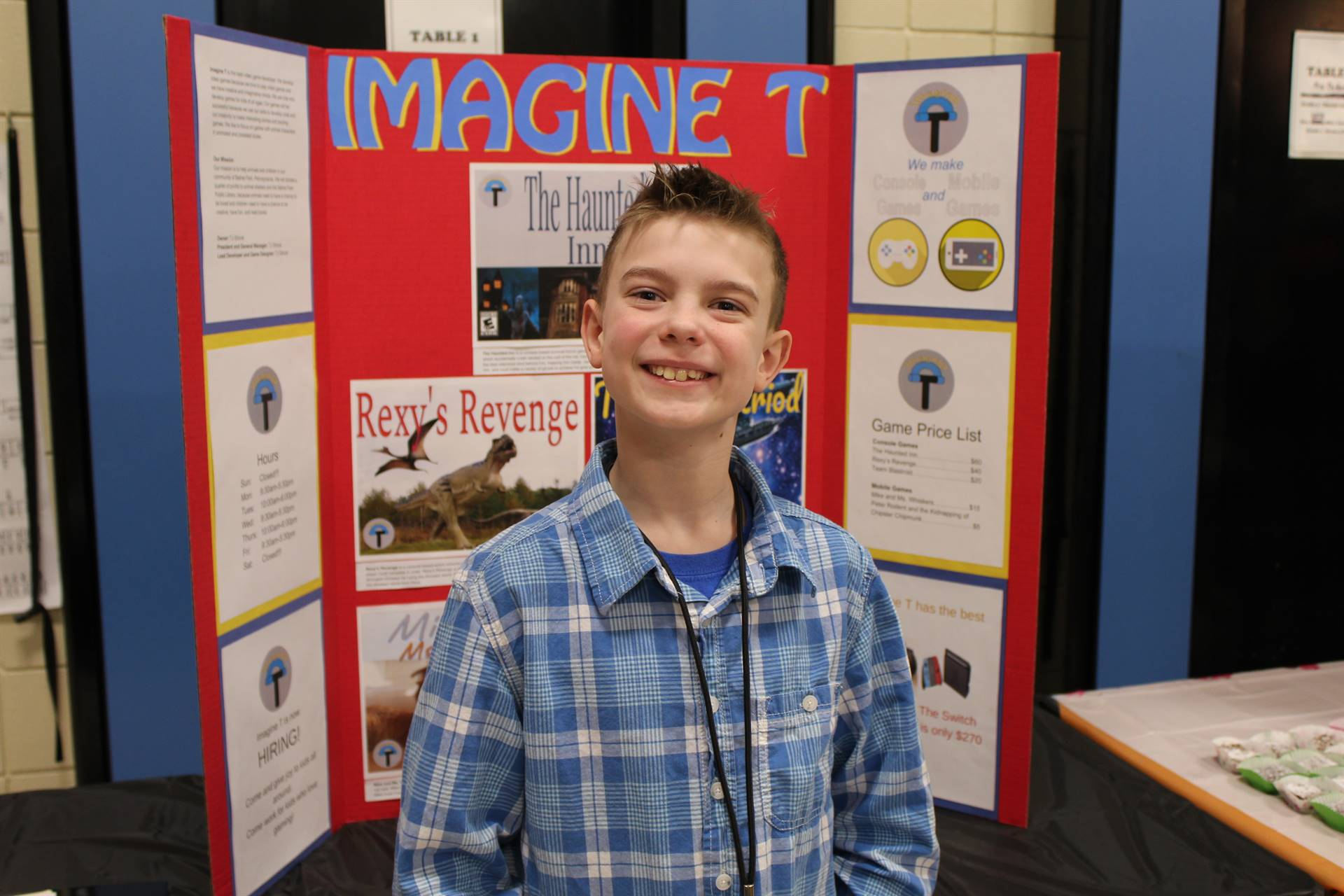 Student with his Gifted Expo project